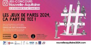 """Lancement du jeu-concours """"Les Jeux de Paris 2024, ça part de toi !"""" pour les jeunes de Nouvelle-Aquitaine"""