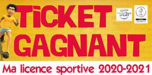 Gagnants du jeu « Gagne ta licence sportive 2020/2021 »